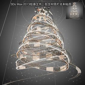 玻璃螺旋中庭吊饰 max