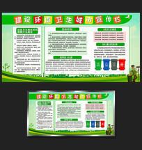 建设环境卫生城市宣传栏