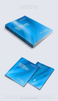 简约蓝色商务封面模板