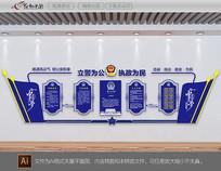 机关单位警营文化墙