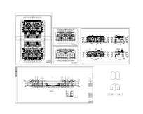 某高档别墅联排建筑套图 CAD