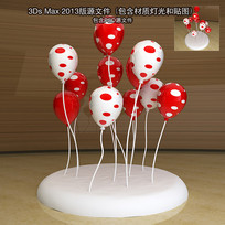 商场圣诞节气球DP点