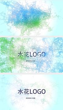 水花四溅logo片头AE模板