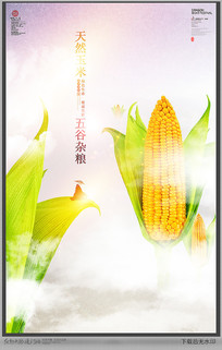 意境玉米海报