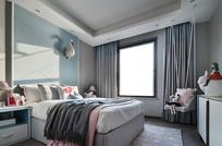 混搭风简洁卧室效果