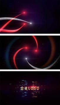 粒子光线汇聚碰撞AE模板