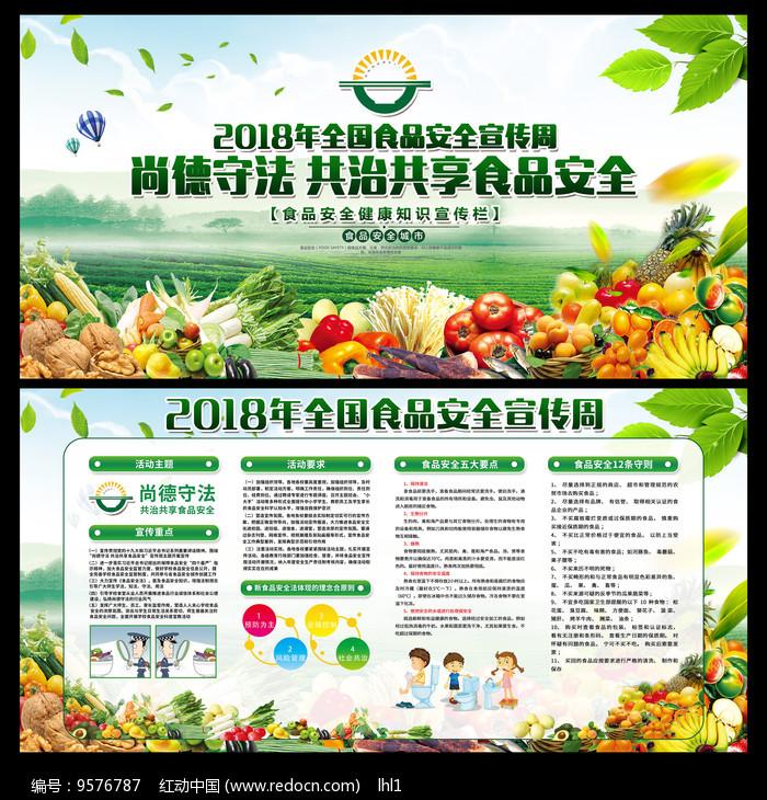 绿色2018食品安全宣传展板图片
