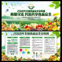绿色2018食品安全宣传展板