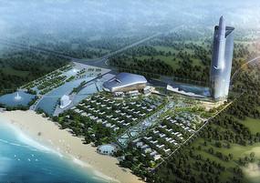 滨水工业园规划鸟瞰图