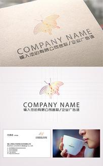 精美蝴蝶logo标志 AI