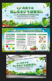 清新全国食品安全宣传活动展板