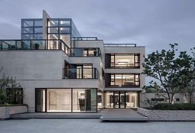 现代简约风集装箱建筑效果