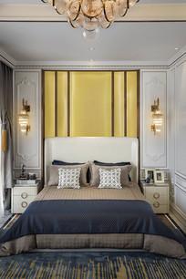 新古典风白色背景卧室