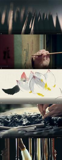 中国文化笔墨纸砚视频素材