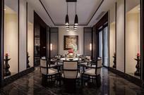 中式白色皮质圆桌餐厅 JPG