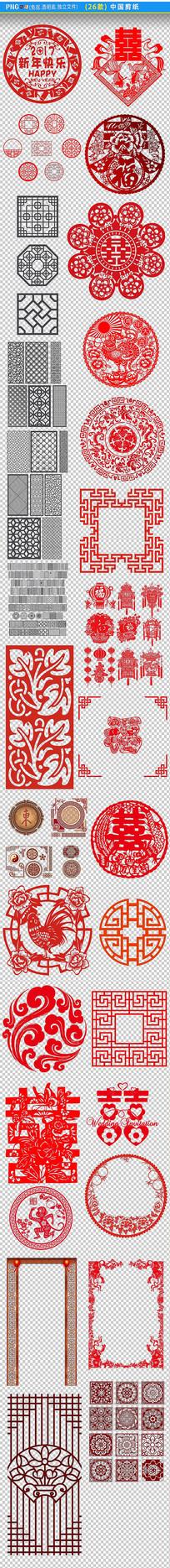 中式雕花纹PNG素材