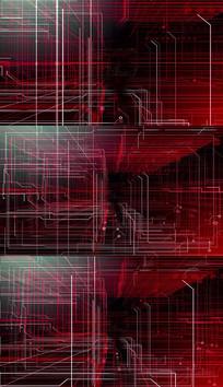 4K红色科技线条背景视频素材
