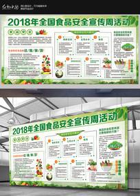 关注食品安全宣传栏海报展板