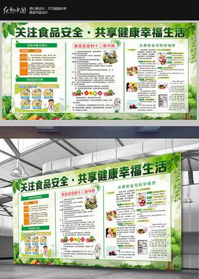 绿色食品安全展板