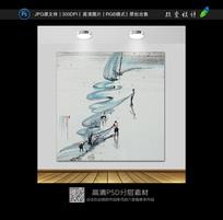中式水墨意境装饰画图片