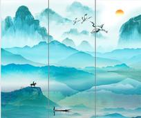 高端中国风山水装饰背景墙