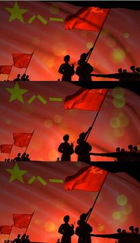 歌曲中国军人舞台背景视频