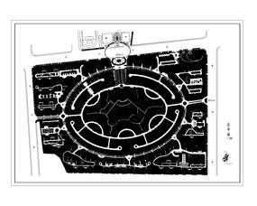 花园景观绿化设计总平面图 dwg