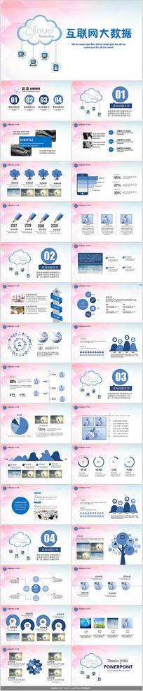 互联网大数据PPT模板