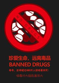 禁毒广告海报