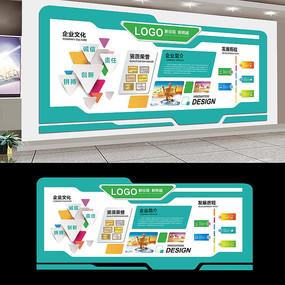 绿色清新公司文化墙展板