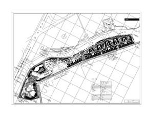 住宅商务区景观平面图 dwg