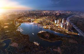 城市码头娱乐休闲景观