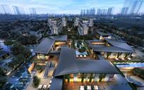 高级别墅区规划鸟瞰图 JPG