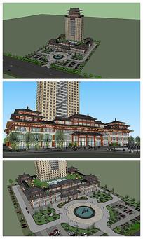 汉唐风格建筑