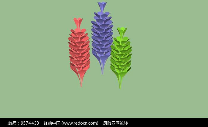 花瓣雕塑图片