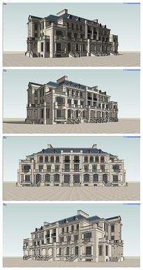 普通法式六联排别墅