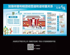社区文明礼仪文化墙展板