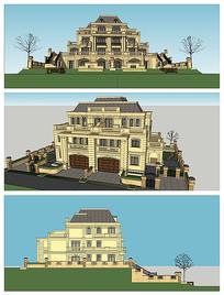 台地法式联排建筑