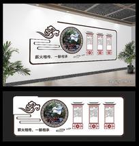 中国风校园展板文化墙
