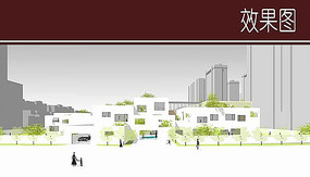 幼儿园建筑立面效果图