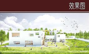 幼儿园建筑效果图