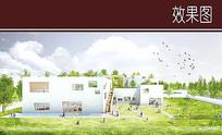 幼儿园建筑效果图 JPG