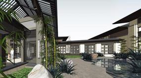 中式庭院景观效果图 JPG