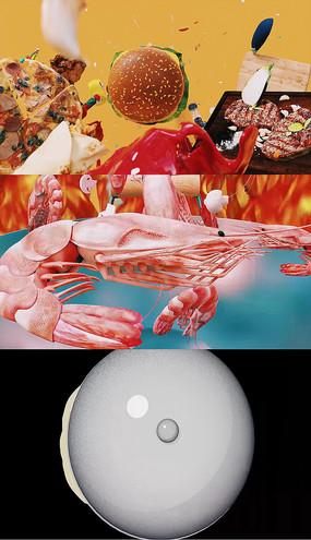 动画美食艺术片头包装AE模板
