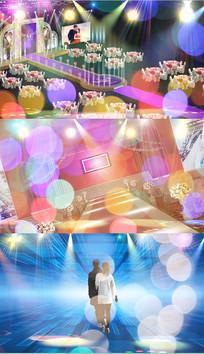 歌曲曲终人散舞台背景视频