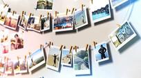 浪漫照片墙家庭相册AE模板