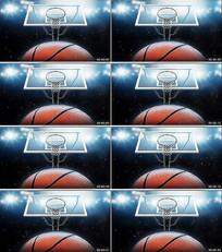 篮球场视频素材
