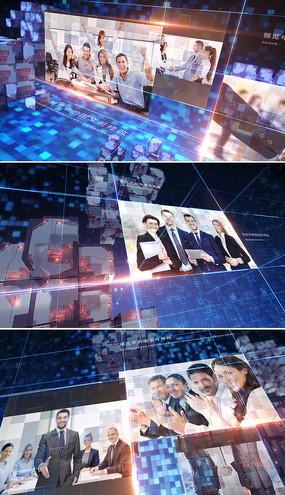 三维科技企业宣传片模板
