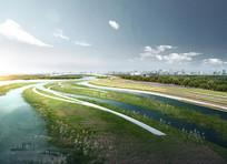 滨水湿地效果图 JPG