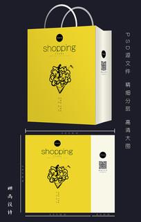 创意黄色手提购物袋